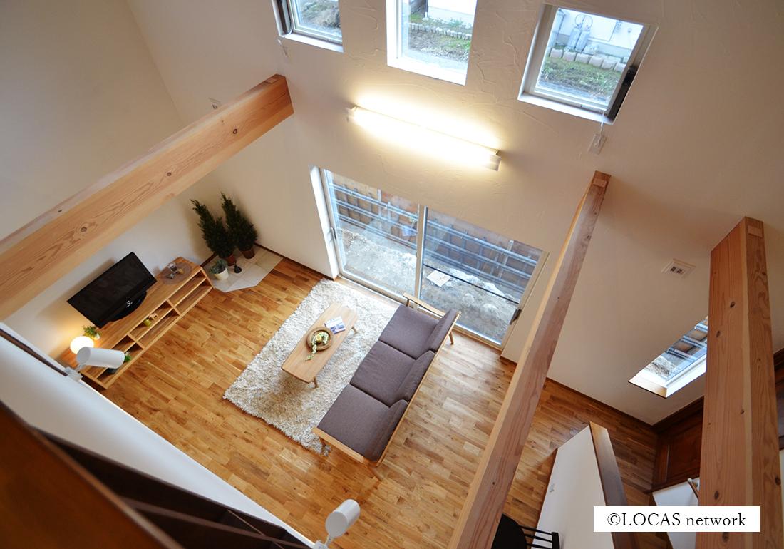 立体的に広がる家