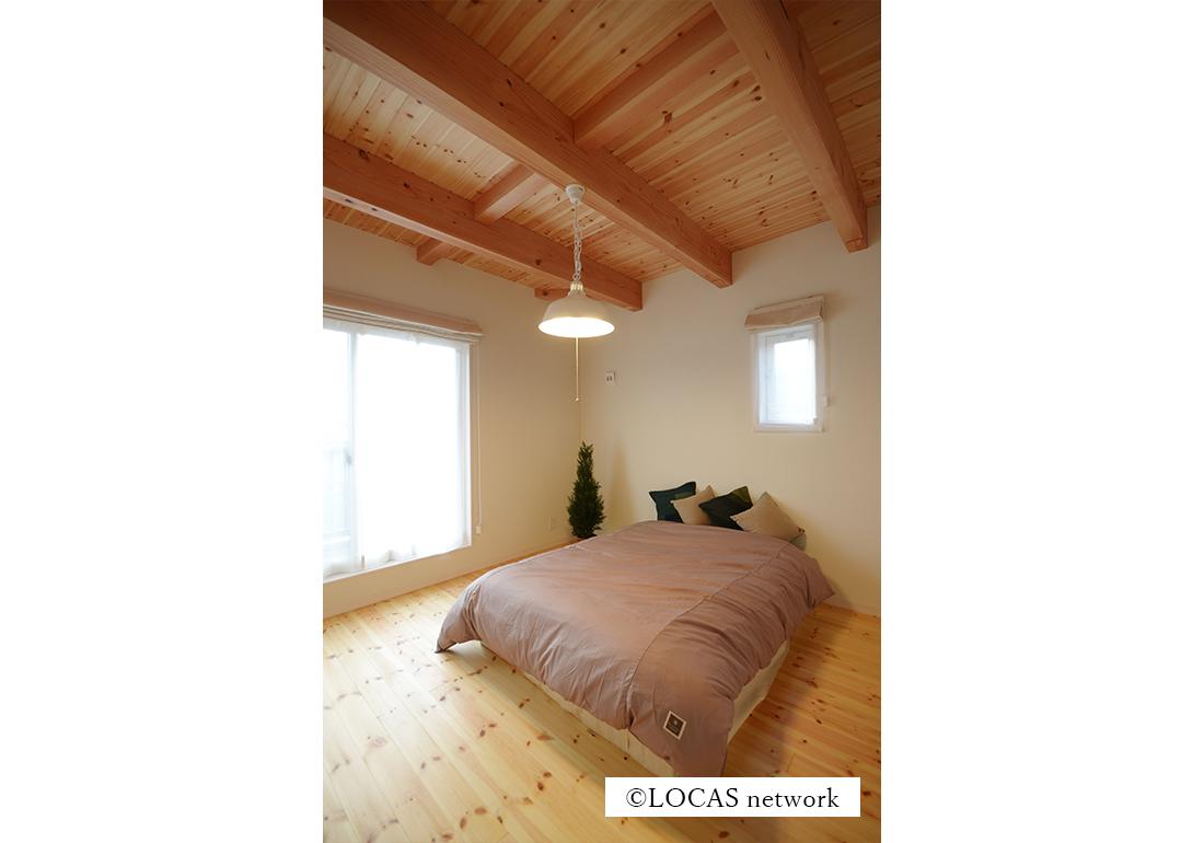 LDKと和室が一体の家