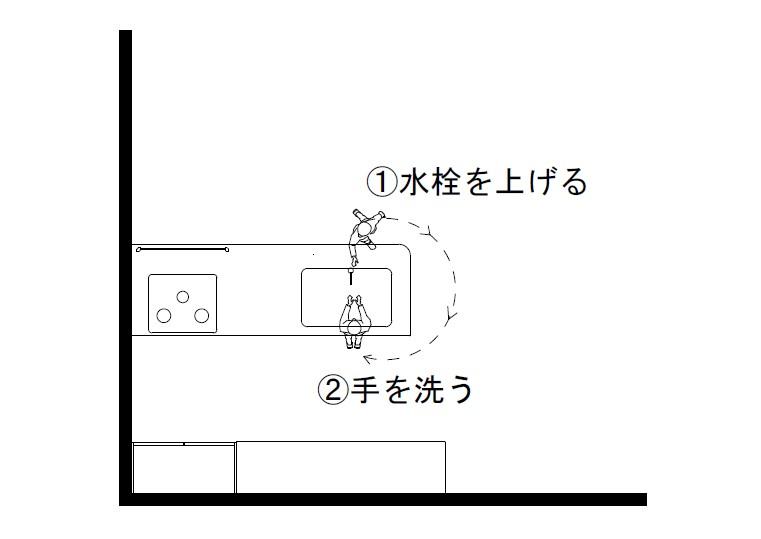 キッチンの図面